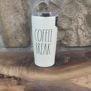 Rae Dunn COFFEE BREAK. Stainless Steel Tumbler